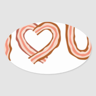 BACONS OVAL STICKER