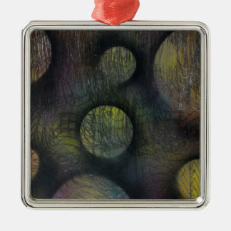 Bacteria enmeshed metal ornament