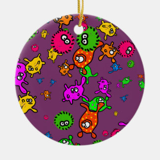 Bacteria Wallpaper Ceramic Ornament