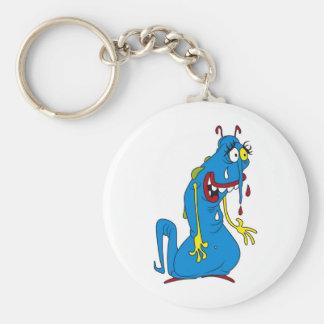 Bactéries bleues porte-clef
