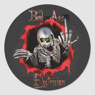 Bad As_ Electrician Skull Sticker