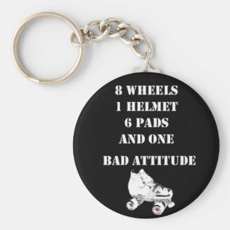 Bad Attitude Basic Round Button Keychain