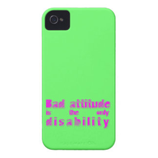 bad attitude is the only disability iPhone 4 cases
