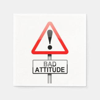 Bad attitude. paper napkins