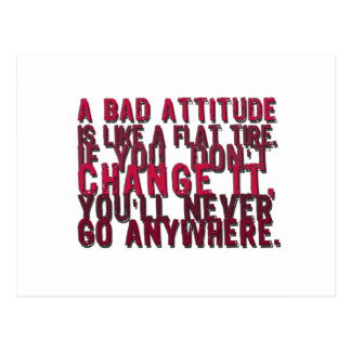 bad attitude products postcard