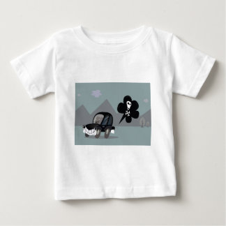BAD BLACK CAR SIMPLE KIDS ART ILLUSTRATION BABY T-Shirt