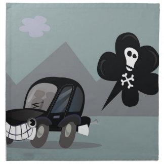 BAD BLACK CAR SIMPLE KIDS ART ILLUSTRATION NAPKIN