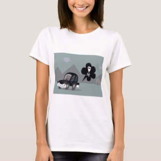 BAD BLACK CAR SIMPLE KIDS ART ILLUSTRATION T-Shirt