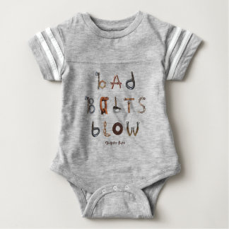 Bad Bolts Blow - Baby Football Bodysuit