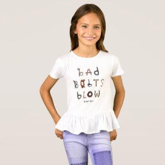 Bad Bolts Blow - Girls Ruffle T-Shirt