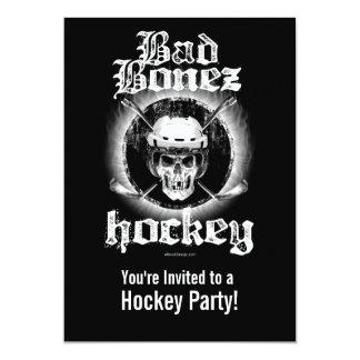 Bad Bonez Hockey party Invitation