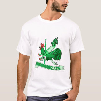 Bad Boy Carousel T-shirt (green and red, no text)