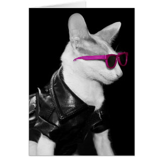 Bad Boy Cat in Shades Card