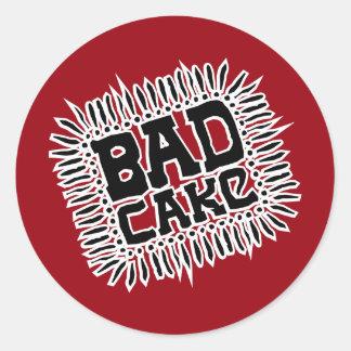 Bad Cake Logo Sticker - Red
