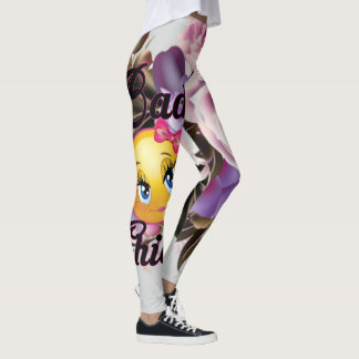 Bad Chick Leggings w/Flower Print