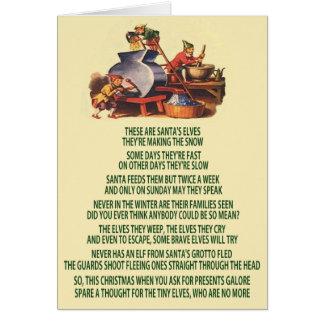 Bad Christmas elves Card