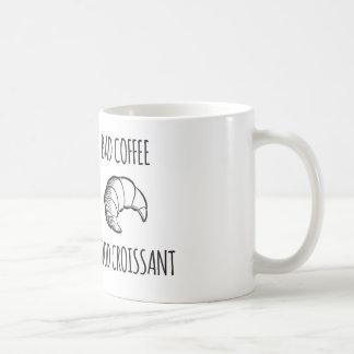 Bad Coffee / Good Croissant Mug