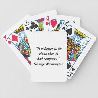 Bad Company - George Washington Bicycle Playing Cards