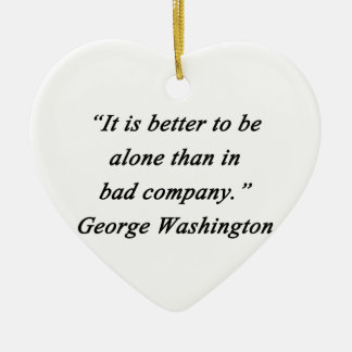Bad Company - George Washington Ceramic Heart Ornament