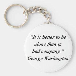 Bad Company - George Washington Keychain