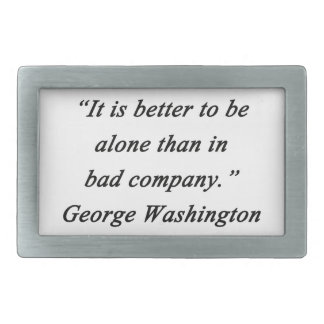 Bad Company - George Washington Rectangular Belt Buckle