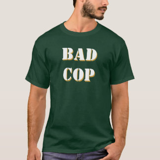 Bad Cop Stencil font, front and back Customize me! T-Shirt