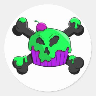 bad cupeycake round sticker