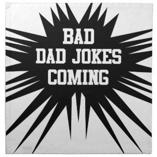 Bad dad jokes coming napkin