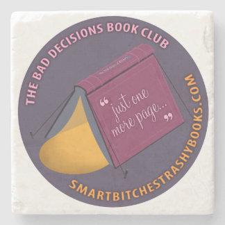 Bad Decisions Book Club Stone Coaster