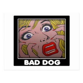 bad dog 2 postcard
