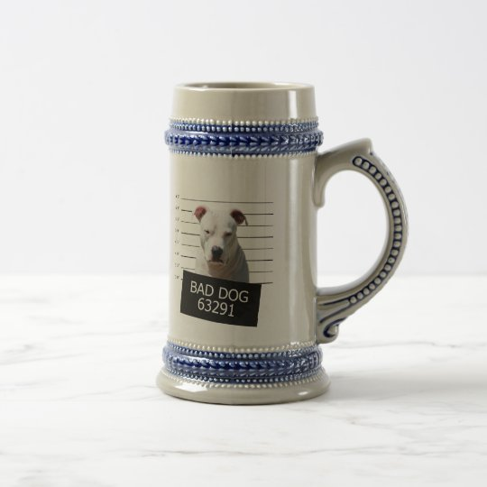 Bad dog beer stein