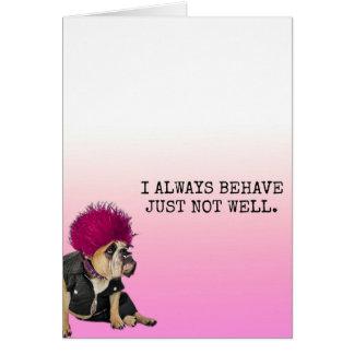 Bad Dog! Card