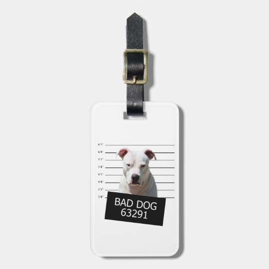Bad dog luggage tag