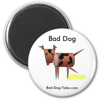 Bad Dog magnetic button Magnet
