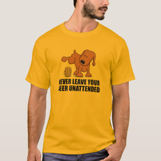 Bad Dog Peeing in Beer T-Shirt
