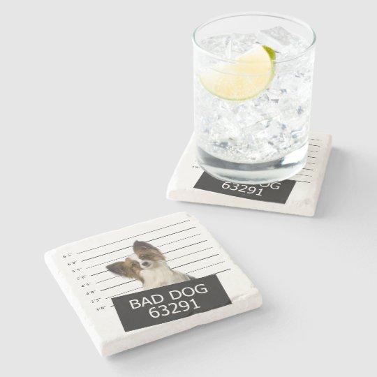 Bad dog stone beverage coaster