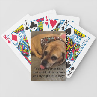 Bad doggie-playing cards