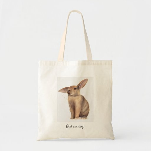 Bad Ear Day Painted in Watercolour Tote Bag
