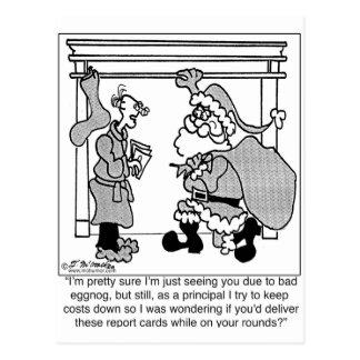Bad Egg Nog Leads to Santa Sighting Postcard