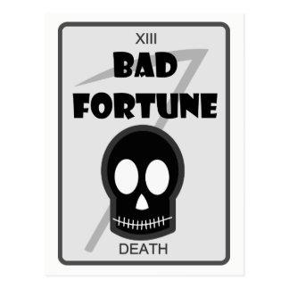 Bad Fortune postcard