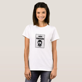 Bad Fortune women's white tshirt