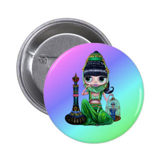Bad Genie Rainbow Button