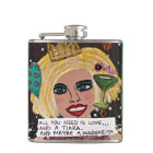 BAD GIRL FLASK-ALL YOU NEED IS LOVE AND A TIARA HIP FLASK