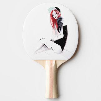 Bad Girl Pong Ping Pong Paddle