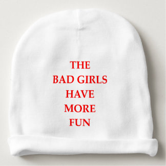 bad girls baby beanie