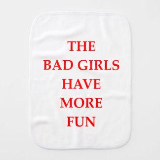 bad girls burp cloth