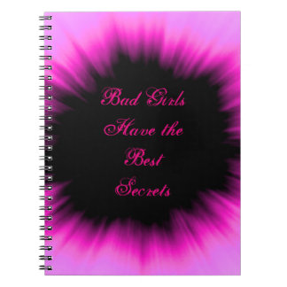 Bad Girls Have the Best Secrets Pink & Black Diary Notebook