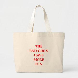 bad girls large tote bag