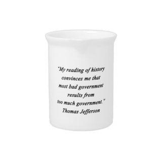 Bad Government - Thomas Jefferson Beverage Pitchers
