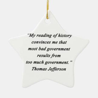 Bad Government - Thomas Jefferson Ceramic Ornament
